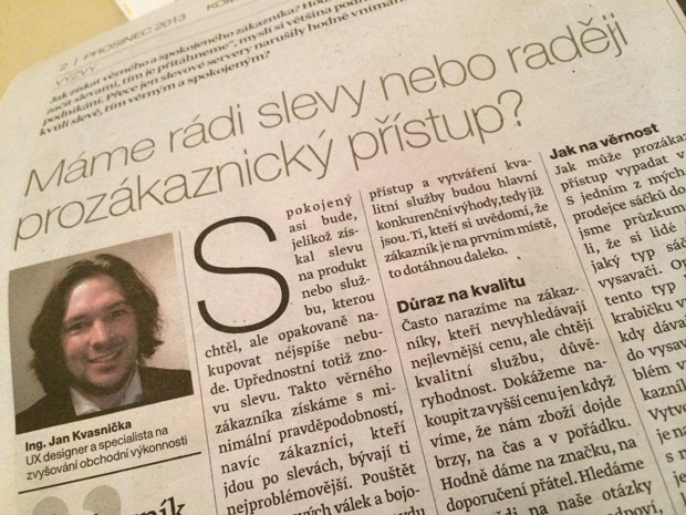 Kvasnička Jan - Lidové noviny - Prozákaznický přístup