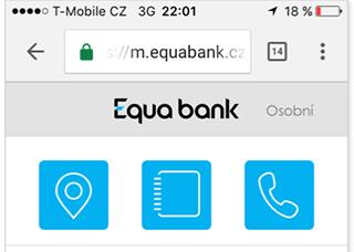 Equabank navigace